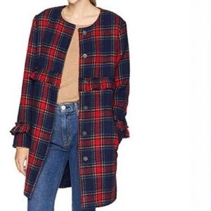 JACK BY BB DAKOTA Plaid Ruffle Coat